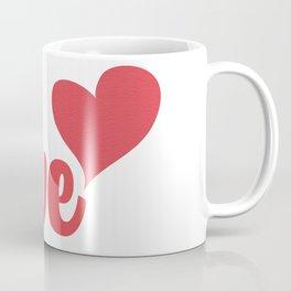 Love and Heart #valentinesday #valentine #love #red #kirovair #minimal #minimalism #buyart #design Coffee Mug