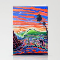 psychadelic Stationery Cards featuring  Surf Art Psychadelic  by Surf Art Gabriel Picillo