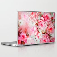 shabby chic Laptop & iPad Skins featuring Shabby Chic Pink by Jacqueline Maldonado