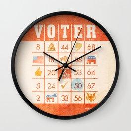 The Bingo Vote Wall Clock