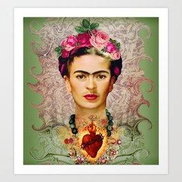 FRIDA KAHLO SACRED HEART Art Print