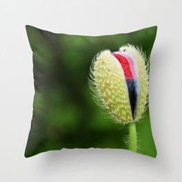 Poppy Bud Throw Pillow