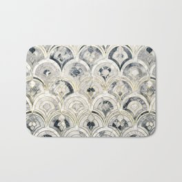 Monochrome Art Deco Marble Tiles Bath Mat