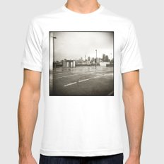 { rain dance } Mens Fitted Tee MEDIUM White