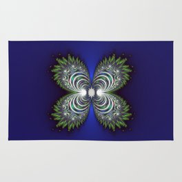 Fractal Butterfly Rug