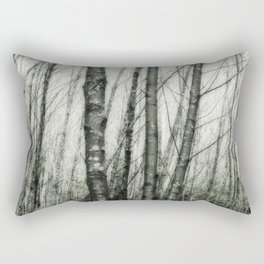 Alders i - Impressionistic Tree Trunks Rectangular Pillow