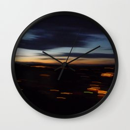 Friday night vertigo Wall Clock