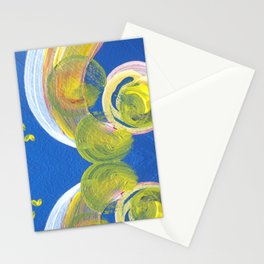 Transitions - Yellow Blue Reflections - Safe or Trapped? Stationery Cards