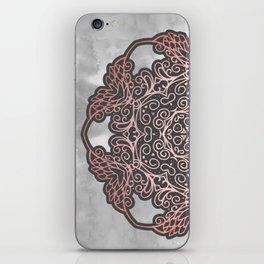 Rose Gold & Grey Mandala iPhone Skin