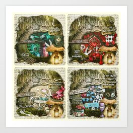 Alice of Wonderland Series Art Print