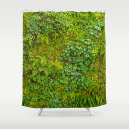 Tropical Nature Print Shower Curtain