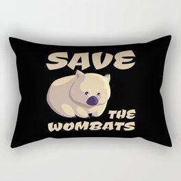 Save The Wombats Rectangular Pillow