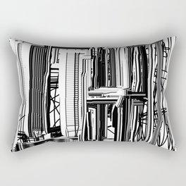 Abstract City #2 Rectangular Pillow