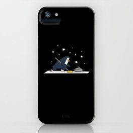Cute Penguin curling on the Ice Field iPhone Case
