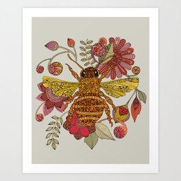 Bee awesome Art Print