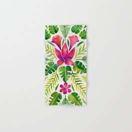 Tropical Symmetry – Pink & Green Hand & Bath Towel