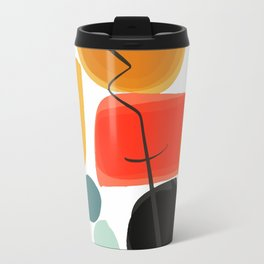 Abstract Joyful Shapes Pattern Decoration Travel Mug