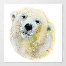 Polar Beary Canvas Print