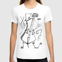 cello T-shirts featuring Dancing Cello by Ashley Grebe