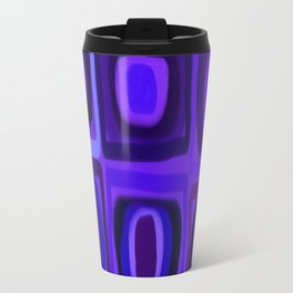 Violets in Blue Windows Travel Mug