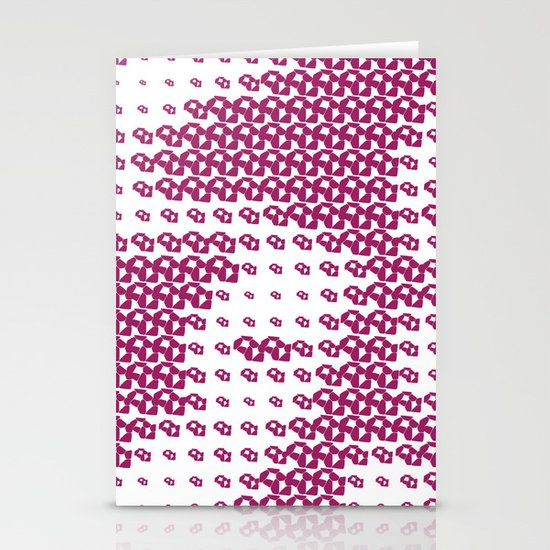 Pink Pebble Pattern Stationery Cards