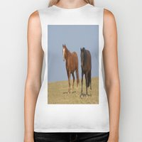 horses Biker Tanks featuring horses by Laake-Photos