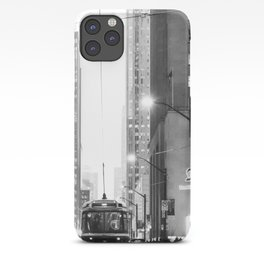 Memories of a streetcar street photography Toronto Downtown iPhone Case