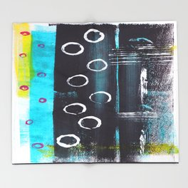 Abstract with Circles Throw Blanket