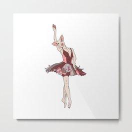 Pig Ballerina Tutu Metal Print
