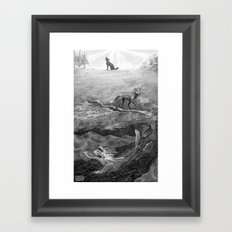 Coyote and the Columbia River  Framed Art Print