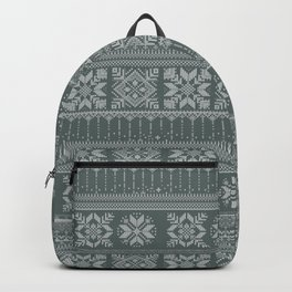 Knitted christmas pattern Backpack