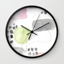 180805 Subtle Confidence 12 | Colorful Abstract |Modern Watercolor Art Wall Clock
