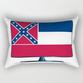 Mississippi Flag TV Rectangular Pillow