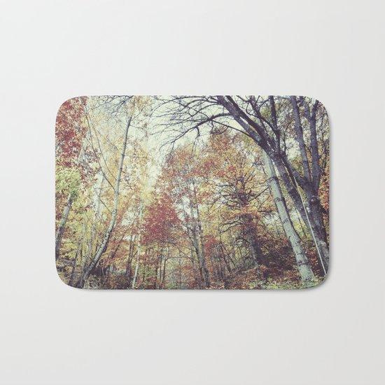 """""""Into the woods"""" Autumn wander. Bath Mat"""