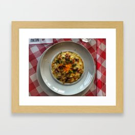 Cheesey bacon pasta. Framed Art Print