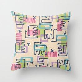 Mid Century Modern Abstract Pattern 732 Throw Pillow