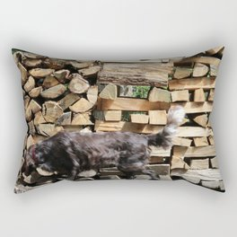 Dog in the Ardennes Rectangular Pillow
