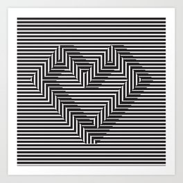 le coeur impossible (nº 1) Art Print