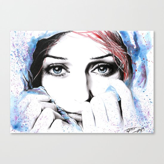 See What Feelings I Hide Canvas Print