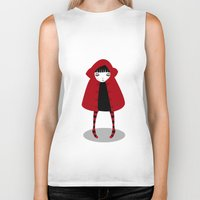 red riding hood Biker Tanks featuring Little Red Riding Hood by Volkan Dalyan