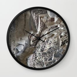 Silver Crystal First Wall Clock