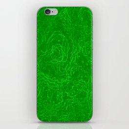 Neon Green Alien DNA Plasma Swirl iPhone Skin