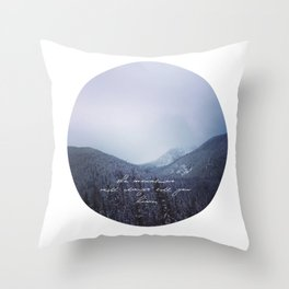 The mountains will always call you home. Throw Pillow