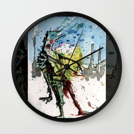desert zombie Wall Clock