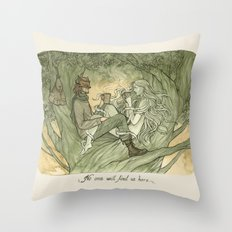 No one will find us here Throw Pillow