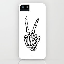 Peace skeleton hand iPhone Case
