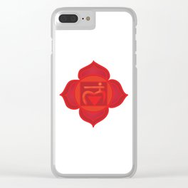 Muladhara Root Red Chakra Clear iPhone Case