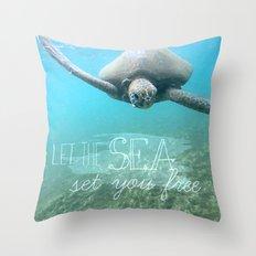 Free Turtle  Throw Pillow