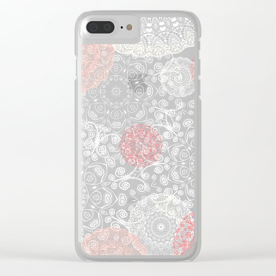 HAPPY GO LUCKY - BOHO WOOD Clear iPhone Case