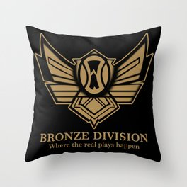 Bronze Division Throw Pillow